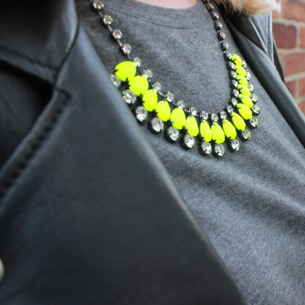 Moto Jacket OOTD necklace