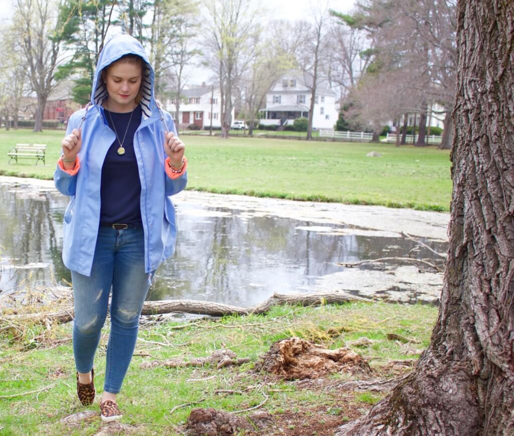 Rainy Day Outfit Joules Jacket OOTD