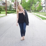 How to Style the LOFT Peplum Cami: Date Night