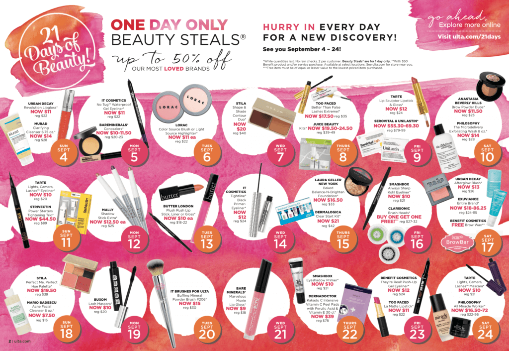 ulta beauty 21 days of beauty