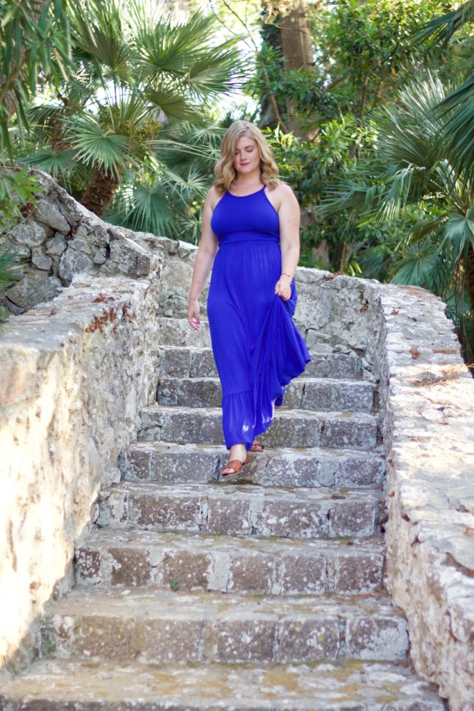 Styling a Blue Maxi Dress