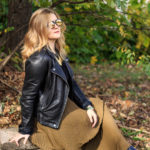 Styling a Black Moto Jacket for Fall