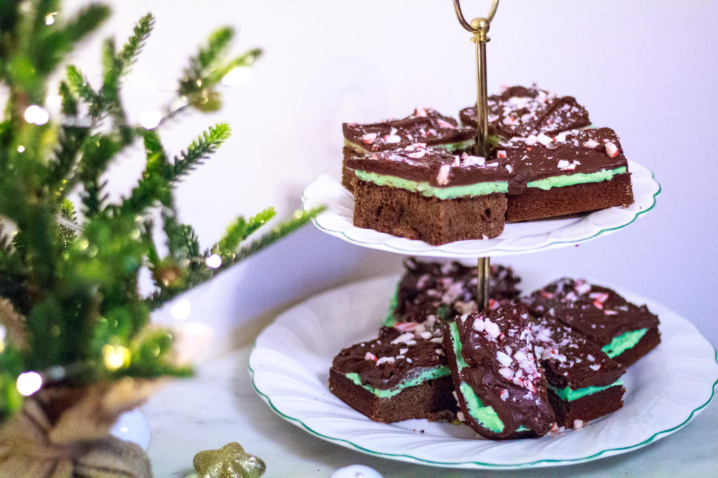 Virtual Cookie Swap: Creme de Menthe brownies