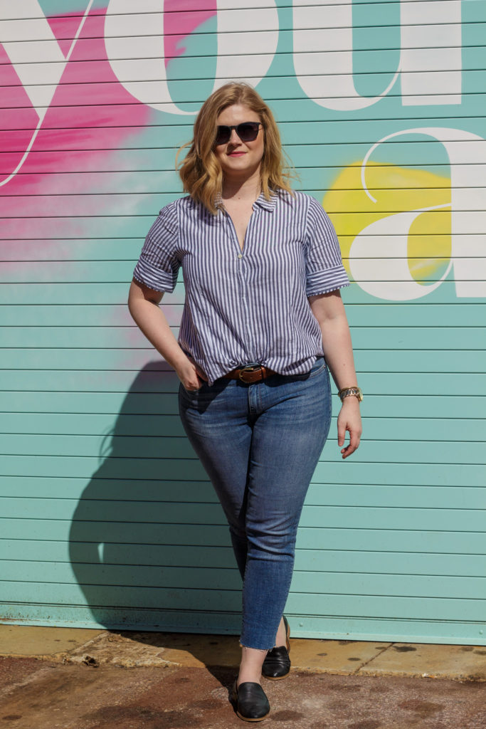 Striped Button-up
